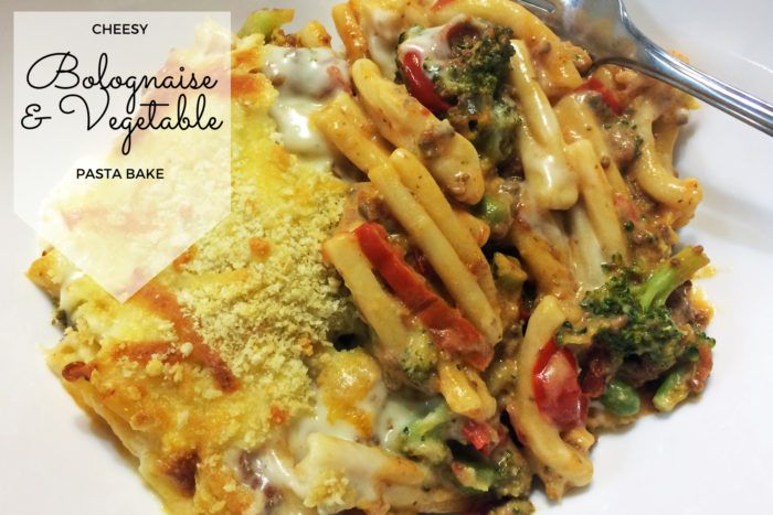 Cheesy Bolognaise and Vegetable Pasta Bake Recipe