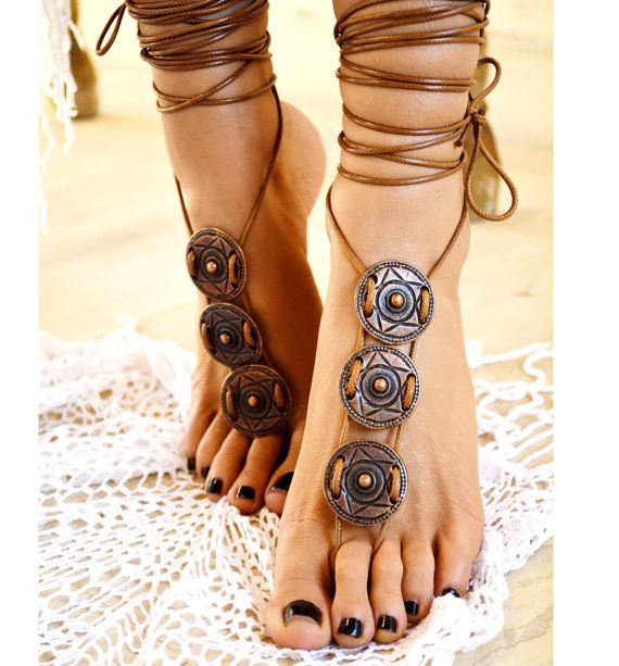 Women barefoot sandal Athena foot jewellery by ccfashionstr