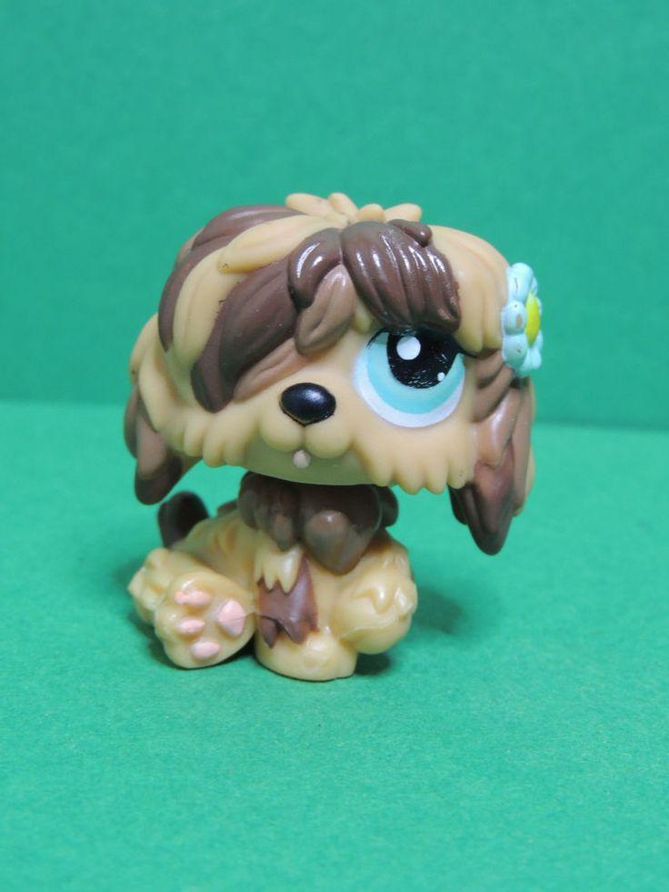 #1077 chien Bobtail dog Brown caramel Sheepdog LPS Littlest Pet Shop Figurine