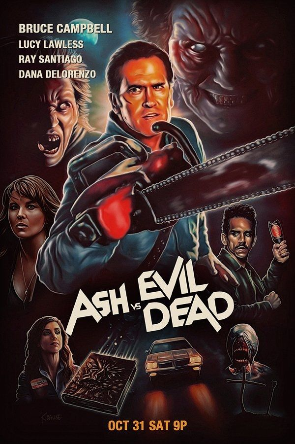 welcome2creepshow ash vs evil dead poster by kynky horror