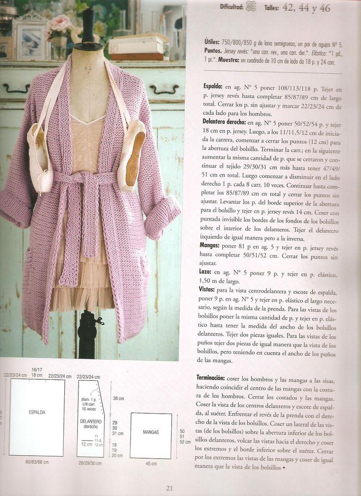 21 mejores imágenes de Patrones de tejido en Pinterest | Patrones de ...