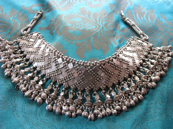 19th Century Flexible Silver Choker Necklace,Rajasthani Anklet, India