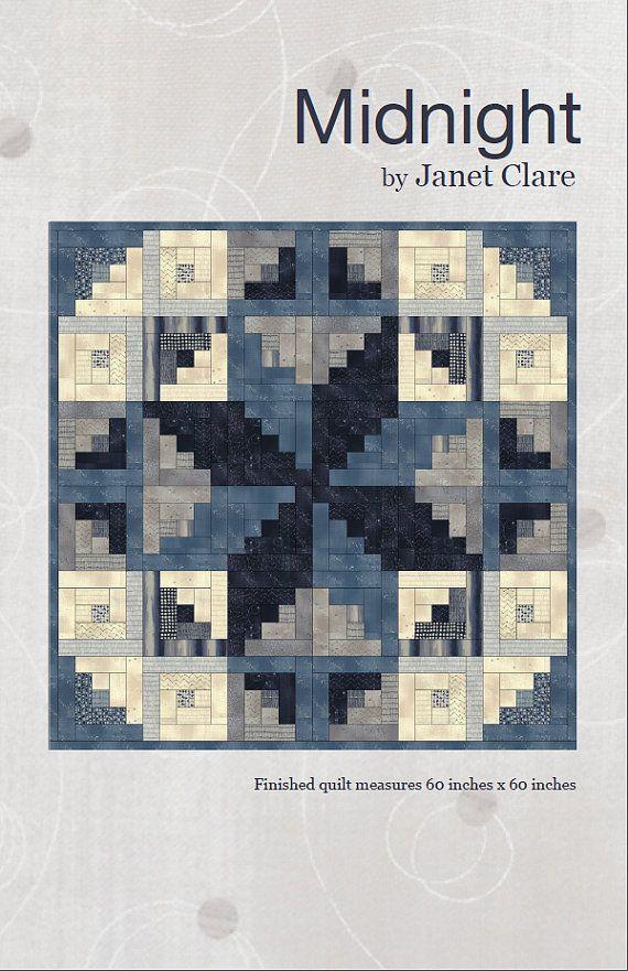 Mitternacht Quilt Pattern eine Spiralgalaxie quilt von JanetClare