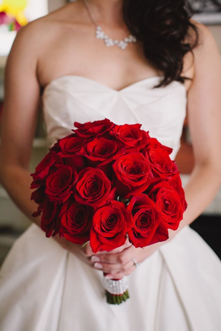 Luxurious Wedding Ideas With Glamour  Wedding Bouquets  Red rose wedding Wedding Wedding