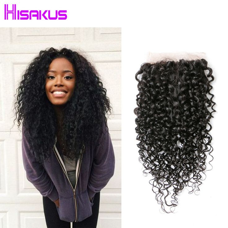 7A Mongolian Kinky Curly Hair 4X4 Lace Closure Kinky Curly Weave Virgin Hair Weave Closures Kinky Curly Weaving Hair Extension