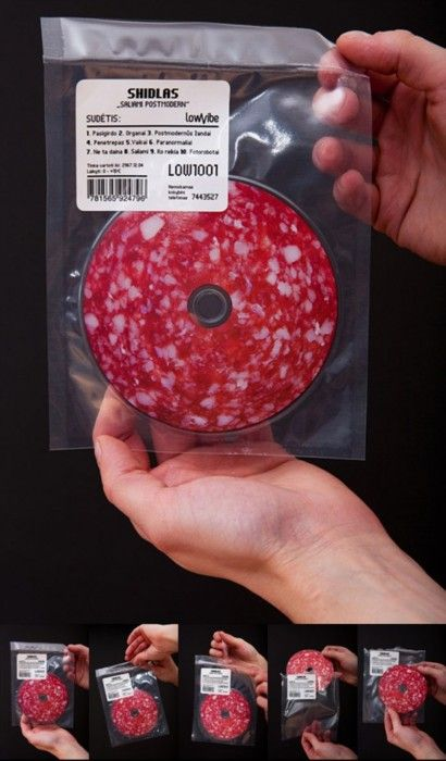 Funny CD packaging - we supply Doggett Labels in this size to allow your creativity to run wild! http://www.kwdoggett.com.au/products/doggett-labels/