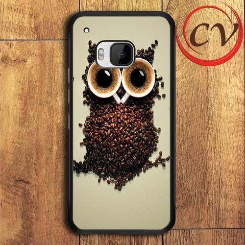 Coffee Owl HTC One M9 Plus Black Case