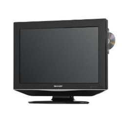 Sharp's LC-19AD22U provides a convenient #built-in DVD television solution with a distinctive design. It features a side-loading progressive scan DVD player, a h...