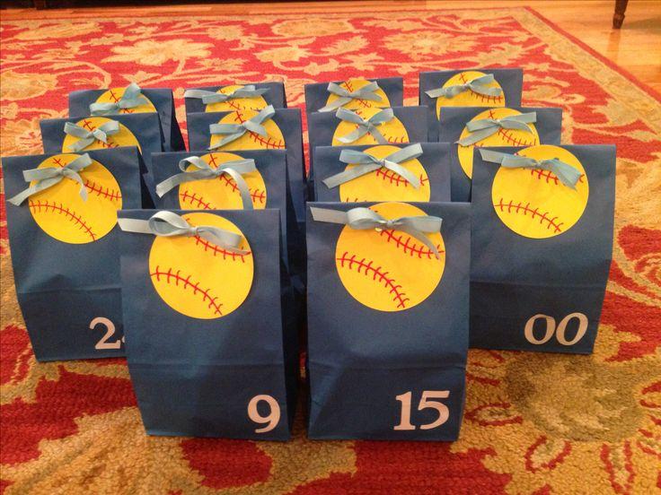 softball goodie bags for the team softball stuff