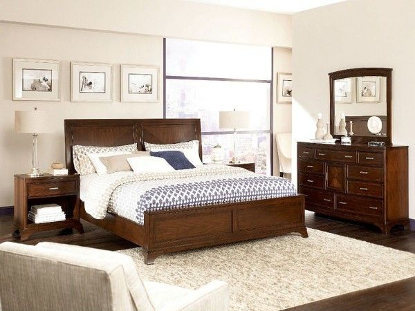 Bedroom Furniture Sets With Unfinished Wood Bed With Solid Wood With Bed  Frame And Wooden Drawers