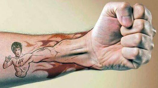 Bruce Lee tattoo. Awesomeness. Forearm tattoo