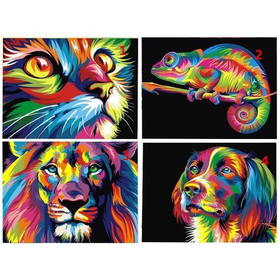 LION Colourful Square Diamonds Kids /& Adults Fun Art Craft Activity FREE Worldwide Shipping 5D DIY Diamond Painting Kit