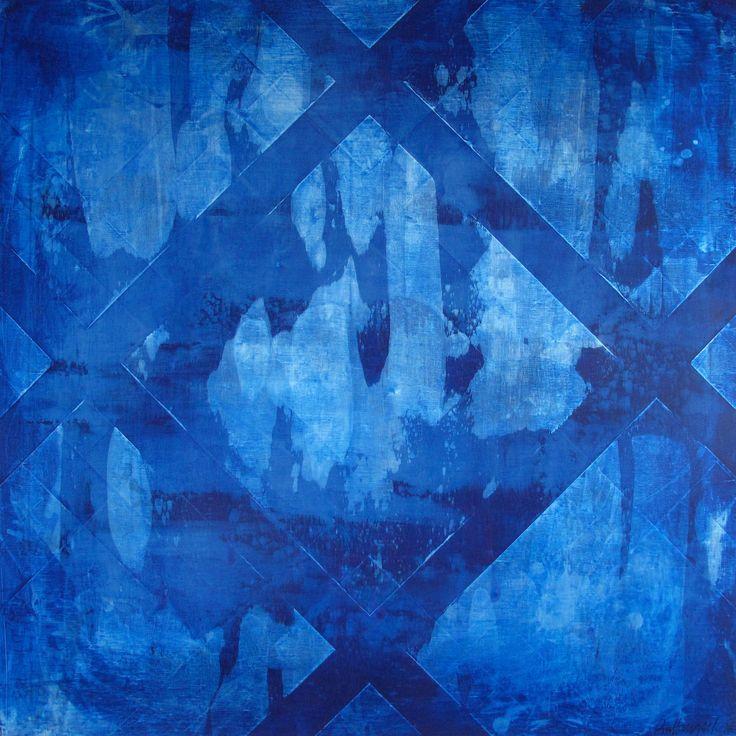 Abstract art  Pia Haugseth  Blue - silver