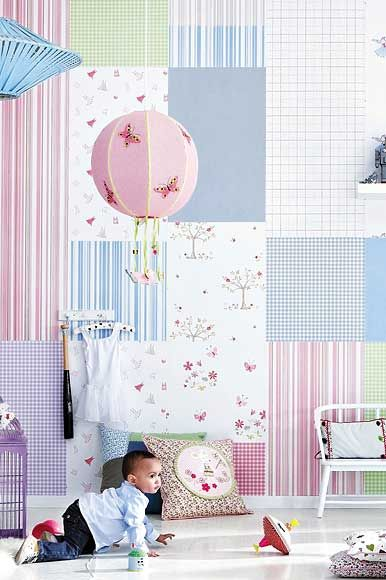 Sweet wallpapers from Camengo, the 'Lollipop' collection. Available exclusively in Australia from The Textile Company.