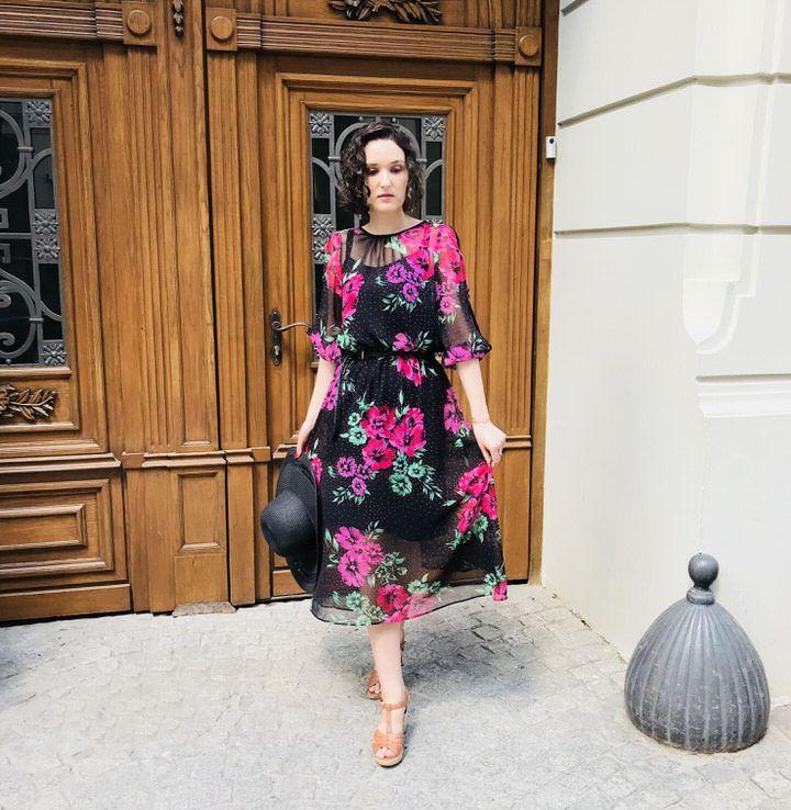 Wiskozowa Sukienka W Kwiaty Na Cieple Dni I Upaly D P Blog Fashion Dresses Maxi Dress