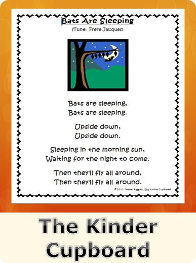 #Bats #song Visit The Kinder Cupboard Blogspot for your #FREE download.