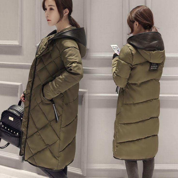56.60$  Buy now - http://ali6u1.worldwells.pw/go.php?t=32699491732 - New Down & Parkas 2016 Hooded Winter Jacket Women Plus Size Loose Long Coat Leisure Warm Parkas Women Winter Outwear JX513 56.60$