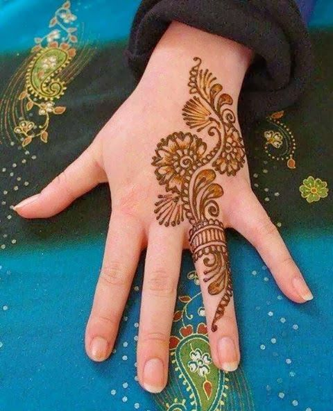 Simple Bridal henna Designs for Hands