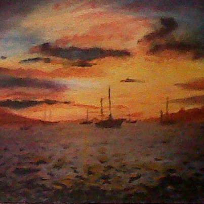 boats on the horizan