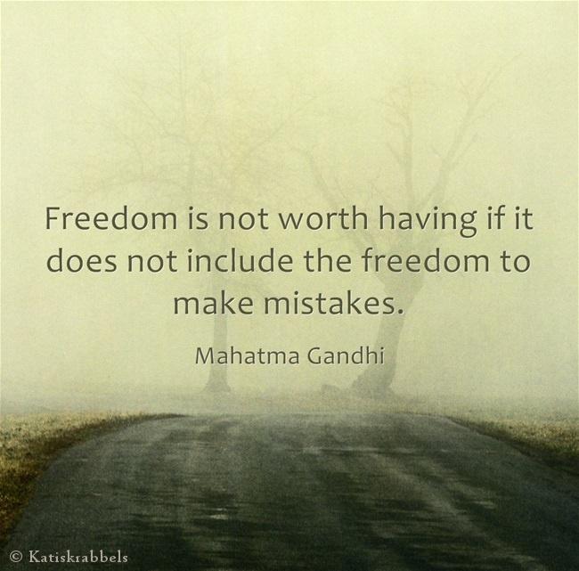 Gandhi quote   Strikes...