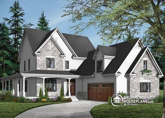 Discover The Plan 3830 Turningdale Which Will Please You For Its 4 Bedrooms And For Its American Styles Traditional House Garage House Plans Farmhouse Plans