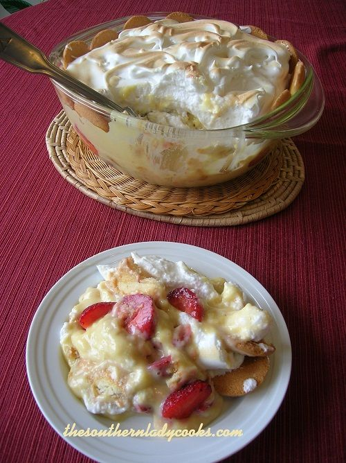 This strawberry pudding is just as good as banana pudding and made the same way except you use strawberries in the recipe instead of bananas. We love it! A great dessert your family and friends w...