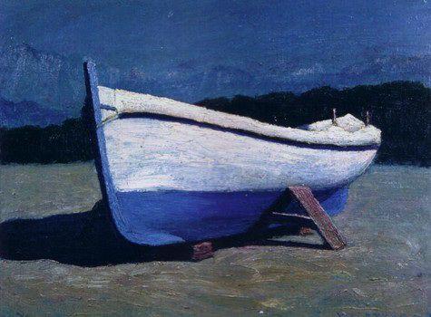"""Barca e apuane""""  1970 - Walter Lazzaro-A pintura dos silêncios"""
