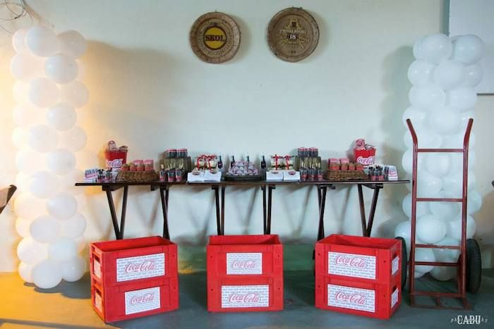 Coca - Cola themed Tween birthday party with Such Cute Ideas via kara's party ideas! full of decorating ideas, dessert, cake, cupcakes, favors and more! KarasPartyIdeas.com #cocacola #cokeparty #tweenparty #partystyling #partyplanning #eventstyling #cocacolaparty #partyideas (19)