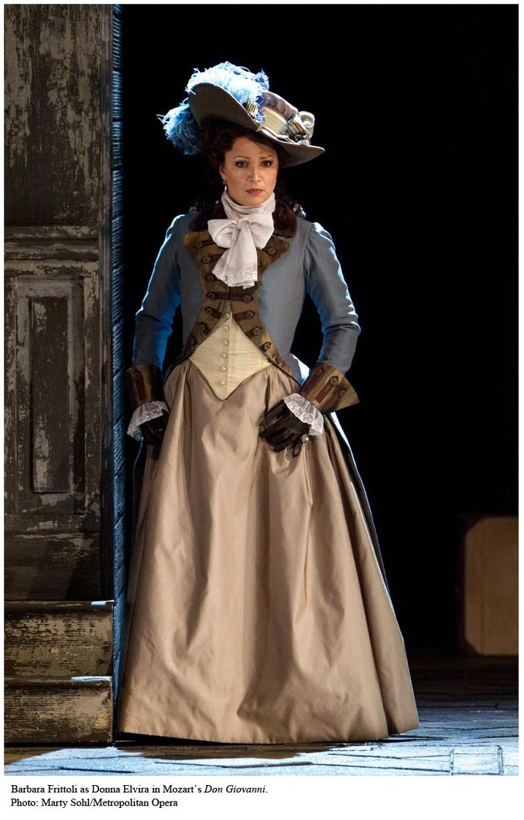 Soprano Barbara Fritolli as Donna Elvira in Mozart's Don Giovanni.