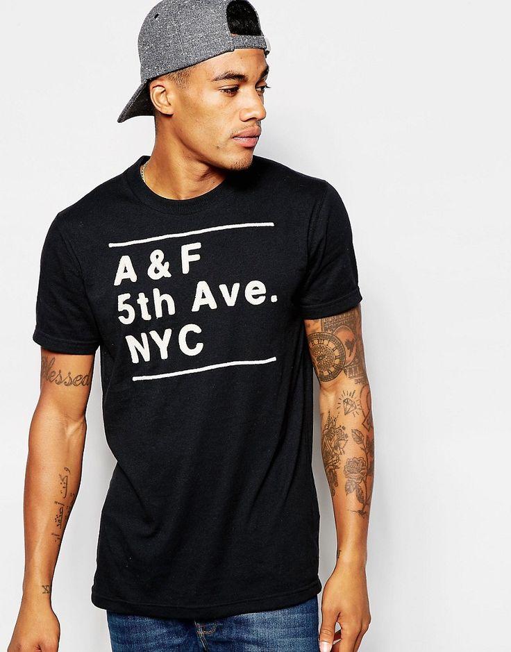 De fedeste Abercrombie & Fitch 5th Avenue Applique Tee - Black Abercrombie & Fitch T-Shirts & Veste til Herrer i fantastisk kvalitet