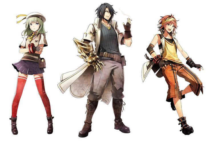 Erina, Lindow, & Kota from God Eater 2