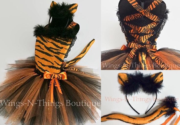 A personal favorite from my Etsy shop https://www.etsy.com/listing/242946729/tiger-cat-costume-tutu-dress-3pc-set-w