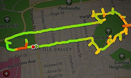 Claire Wyckoff uses Nike+ app to draw penises - The Guardian