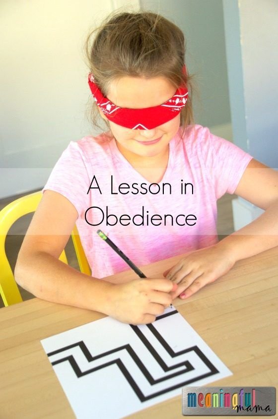 Blindfolded Maze Game Teaches Obedience - Part of a Character Development Series that works on 52 character traits with kids. What a great resource!