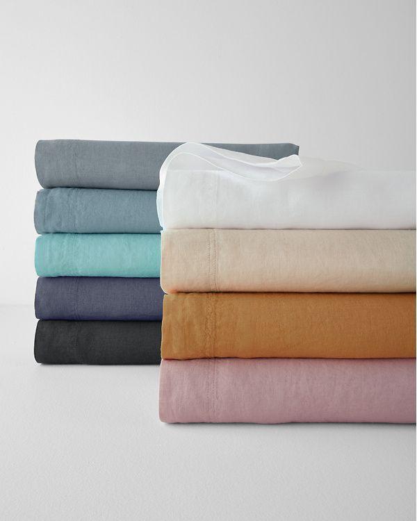 Garnet Hill Solid Relaxed Linen Bedding And Pillow Cover Garnet Hill Linen Bedding Linen Duvet Covers Linen Sheets