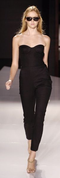 Stella McCartney. I would have styled this look a bit differently but I love this jumpsuit!
