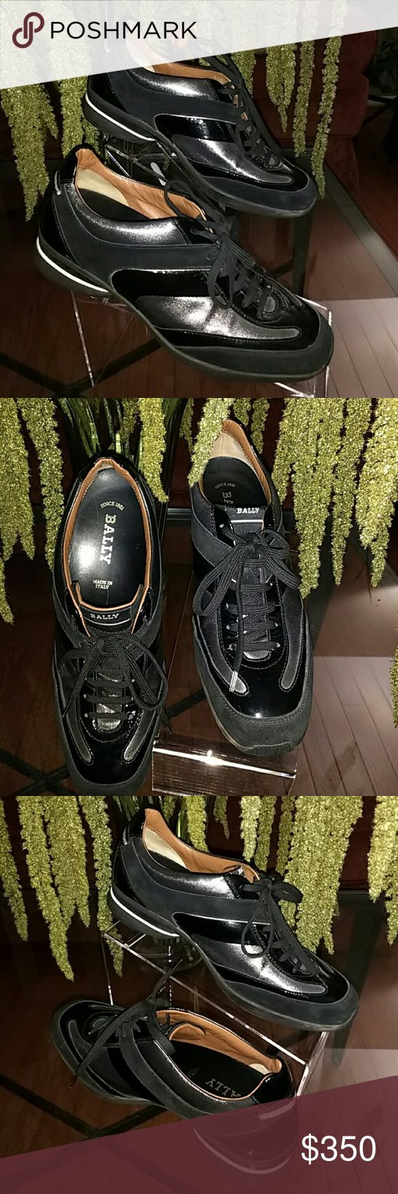 Bally Women's Patent Leather/Suede Trainer Lux Sportswear. Perfect for everyday wear. Signature rubber sole with Bally. Bally strip on back of shoe. Supreme comfort. Excellent condition, like new, no flaws or scuffs. Bally Shoes Athletic Shoes