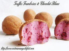 recette truffe à la framboise ganache