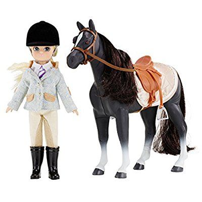 Doll Set by LOTTIE LT054 Pony Club Doll Set with Horse | Dolls - Clothes - Accessories - Collectible | Inspired by real kids! 7 Inch 18 cm Doll With Blond Hair And Blue Eyes & Pony with Black Hair, Playsets - Amazon Canada