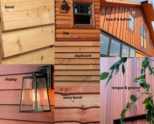 Cedar siding types on manufactured homes.