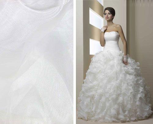 Organzové svadobné šaty