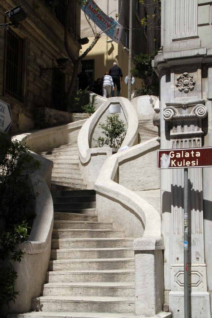 The staircase Camondo in Istanbul