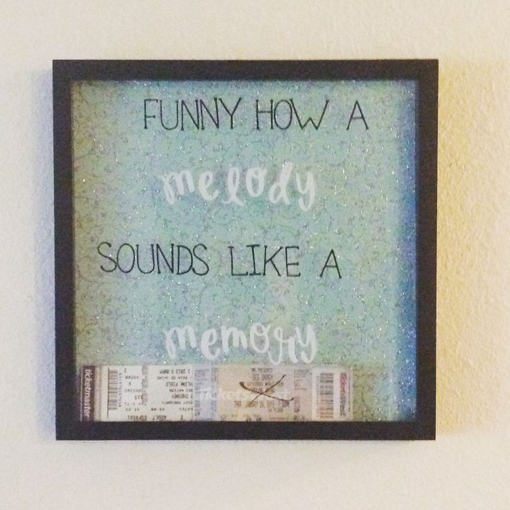 Concert ticket shadow box