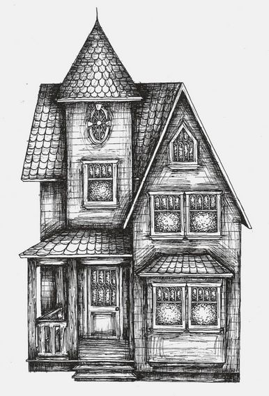 17 best contour drawing images on pinterest contour for Beach house drawing