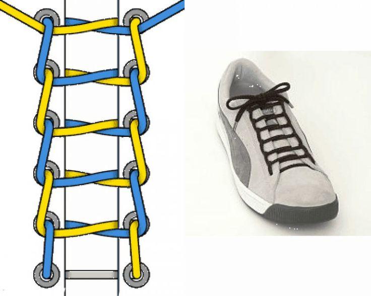 Лучший способ завязывание шнурков на кедах