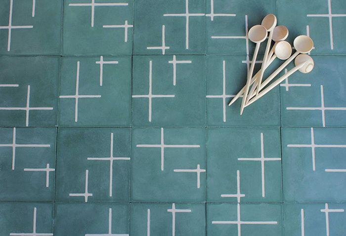 Les carreaux de ciment a motifs : Carreaux Ando (Popham Design)