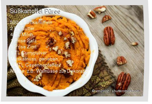 Leckeres Süßkartoffel Püree Rezept mit einfacher Schritt-für-Schritt-Anleitung: Süßkartoffeln schälen, waschen und in Stücke schneiden , In kochen...