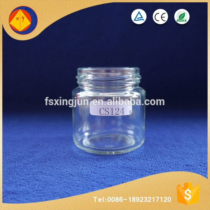 Made in china wholesale storage use small wide mouth empty canada fancy glass jelly jars with lid
