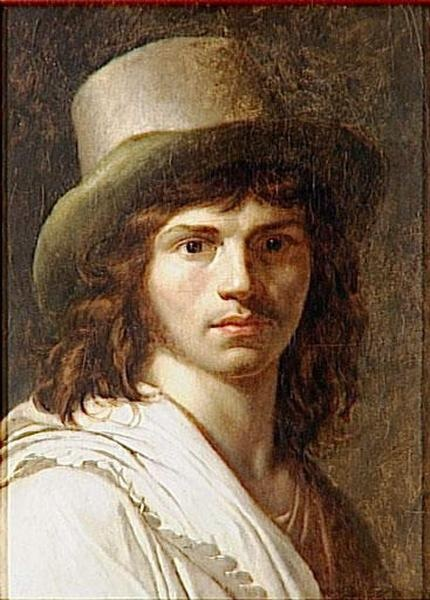 self-portrait by Anne Louis Girodet,  Before 1824.  Musee Nat'l des chateaus de Versailles.