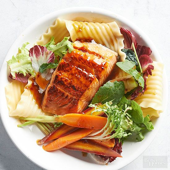 Salmon is a great source of protein and omega-3 fatty acids. Incorporate the good-for-you fish into these simple salads, sandwiches, and entrees that are ready in 30 minutes or less. Our easy dinners prove salmon recipes have